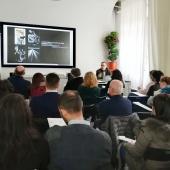 Un momento del workshop tenuto da Sandro Iovine durante il myphotoportal LABS Milano 2018. © Salvatore Picciuto/myphotoportal.