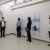 Un momento della presentazione della mostra Cronostasi di Gianfranco Ferraro & Chiara Panariti, presso la Kaunas Photography Gallery. © Karolina Krinickaité / KAARA Fotografia.