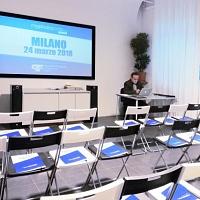 In attesa di iniziare il myphotoportal LABS Milano 2018. © Salvatore Picciuto/myphotoportal.