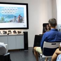 FPschool Open Day 2019, Chiara Panariti, docente di Photoshop, ha tenuto una lezione incentrata sul recupero delle immagini scattate durante le vacanze. © Gianfranco Ferraro/FPschool.
