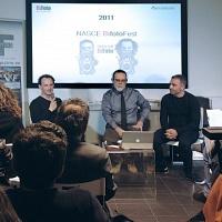 Un momento della presentazione dell'ottava edizione di BìFoto Fest presso FPschool.