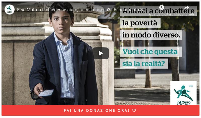 """Associazione """"Albero della Vita"""" Esperimento sociale. Production VideoZone Milan Italy - """"Albero della Vita"""" Esperimento sociale. Production VideoZone Milan Italy"""